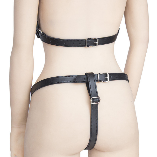 Bondage Bottega, Hermann Bockenem, Black Leather Matching Cut-out Collar Set