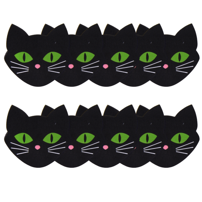 MEOW! Black Kitty 5 Pair Nipple Pastie Set