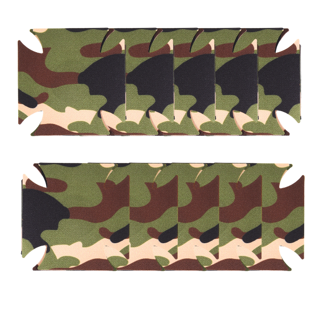 Yes Sir! Army Green Badge 5 Pair Nipple Pastie Set