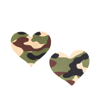 Yes Sir! Army Green Heart 5 Pair Nipple Pastie Set