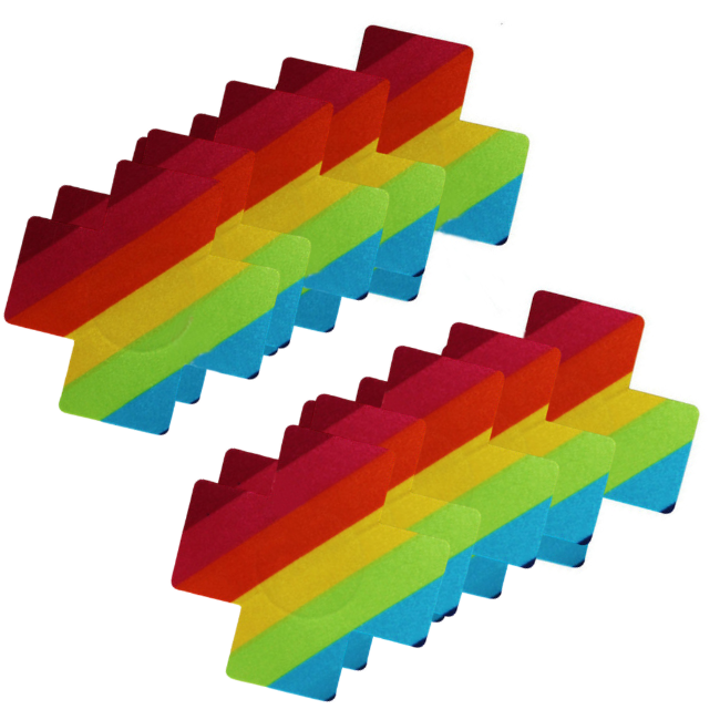 Rainbow Bliss 5 Pair Nipple Pastie Set