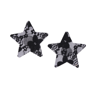 Liquorice Lace Star 5 Pair Nipple Pastie Set