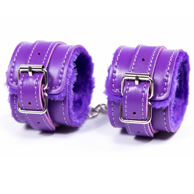 Bondage Bottega, Milenka Purple Handcuff Restraints