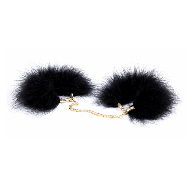 Bondage Bottega, Kitty Black Fur Wrist Restraint
