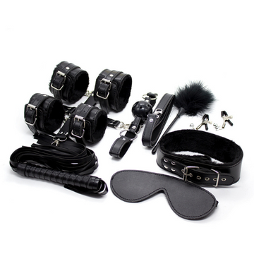 Bondage Bottega, Adonis Black BDSM 12pc Kit