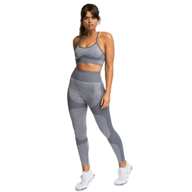 InstantFit, Cloudy-Grey Two Piece, Racer-Back Compression Set