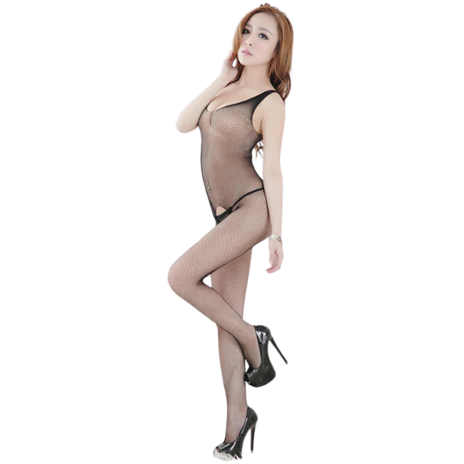 She Woolf Hosiery, Object of Desire, Sleeveless Crotchless Body Stocking