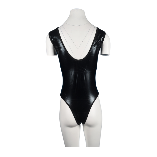 Talullah Suede, What I'm Doing Tonight… PVC Cut-Out Ultra Glossy Bodysuit