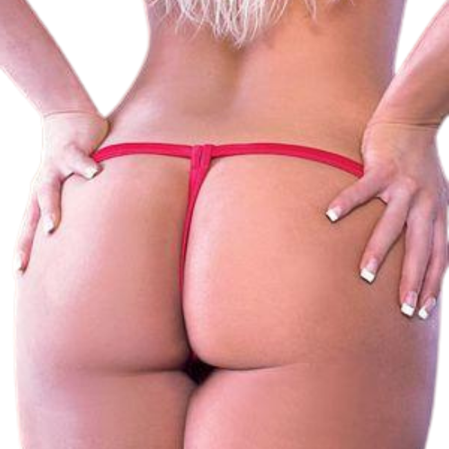Antonia Roja, Red Lace Crotchless G-string Panty
