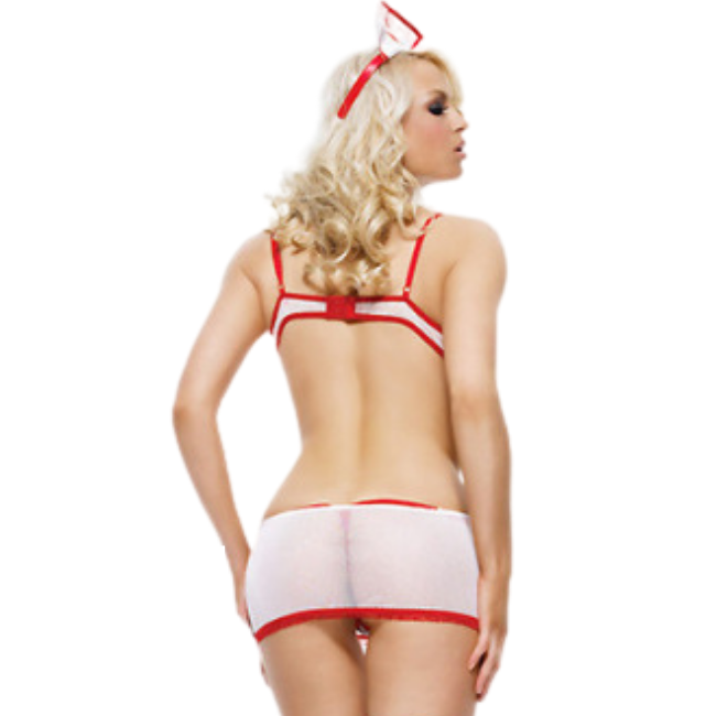Yes Doctor? Sheer Nurse Themed Matching Mini Romper