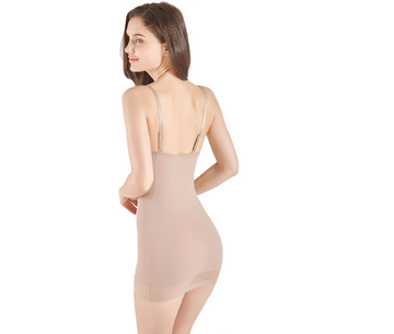 Queen Full Dress, with Built-in Bra - Mesh Bottom, Compression Shapewear