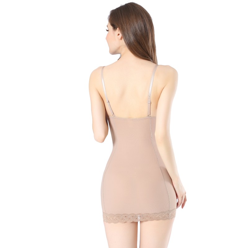 Queen Full Dress, with Built-in Bra, Lace Detail, Compression Shapewear