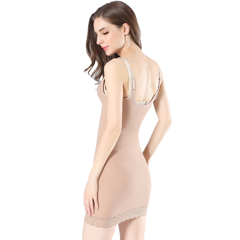 Queen Full Dress, Without Bra, Lace Detail, Compression Shapewear