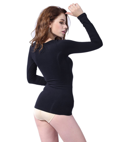 Princess Full Sleeve, Lace Detail Cuff, Compression Shapewear
