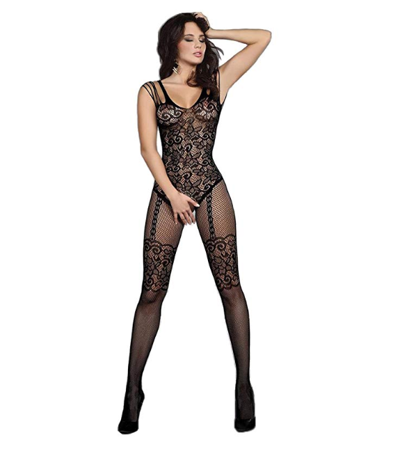 Multi-track shoulder detail full body body stocking online lingerie lingerie shopping