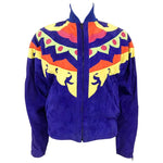 Versace Colorful Suede Jacket - 1990s