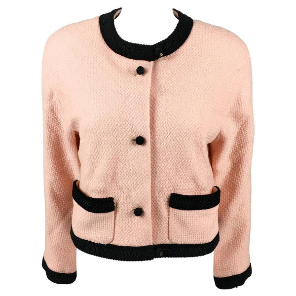 Chanel Pink Tweed Cropped Jacket - 1990's