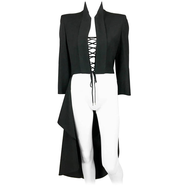 Alexander McQueen Runway 'The Dance of the Twisted Bull' Matador Black Jacket - 2002