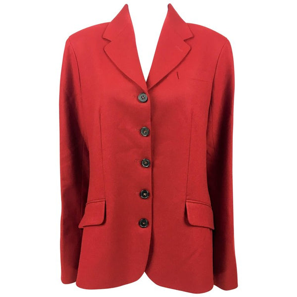 Hermes Deep Red Wool Jacket - 1990's
