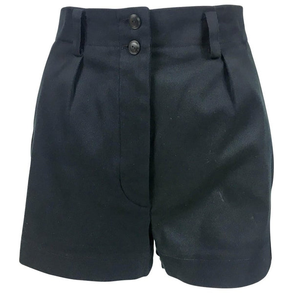 Azzedine Alaia Black Tailored Shorts - 1990's