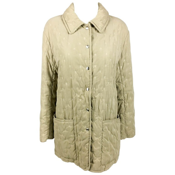 Hermes Taupe Quilted Jacket - 1990's