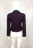 Chanel Deep Purple  Bouclé Cropped Jacket - 2001
