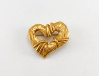 Christian Lacroix Gold-Plated Heart Brooch, by Robert Goossens - 1994