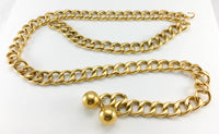 Chanel Runway Chunky Gilt Chain Belt - 1985