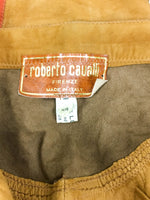 Roberto Cavalli Tan Suede Cropped Trousers - 1980's