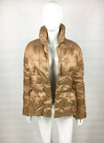 Mugler Bronze Puffer Jacket With Star Motif - 1990's