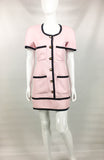 Chanel Pink Short Dress With Logo Buttons - 1991
