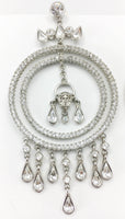 Versace Crystal Embellished Chandelier Medusa Earrings
