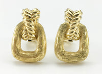 Dior Gold-Tone Clip-On Earrings - 1980's