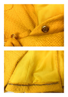 Chanel Yellow Boucle Wool Skirt Suit - Circa 1982