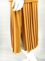 Dior Wool Crepe Pleated Skirt Ensemble - 1970s