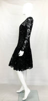 Dior 1987 Fall/Winter Campaign Lace And Sequins Black Dress