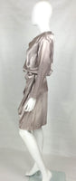 Yves Saint Laurent Silk Satin Draped Dress - 1988s