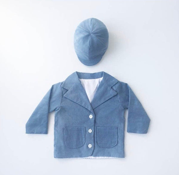Boys Corduroy Blazer and Hat