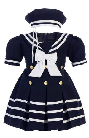 Girls Navy sailor dress