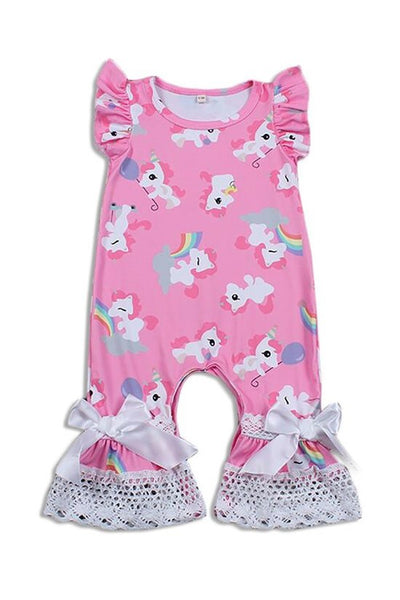 Infant unicorn romper