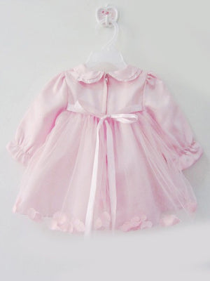 Beautiful tickled pink dress with bonnet
