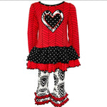 Damask Heart Herringbone Dress set