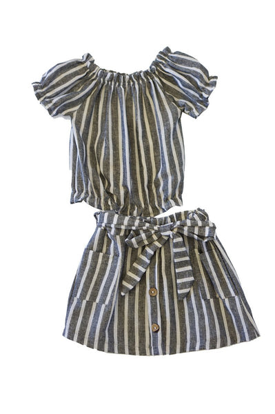 Princess stripe skirt set