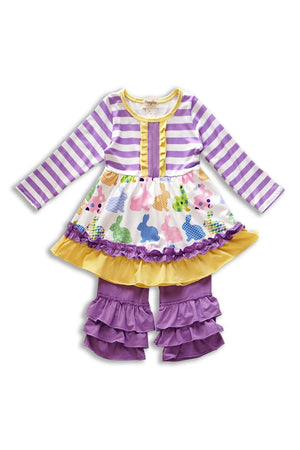 Purple Easter Day Bunny Set