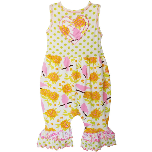 Bird and Heart Romper