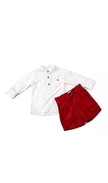 Kaisu long sleeve shirt and shorts