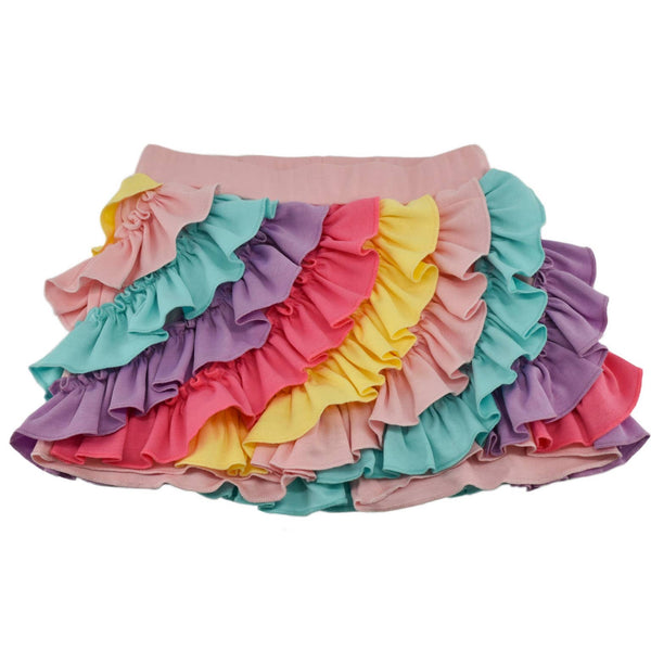 Swaney Multi-colored layers skirts