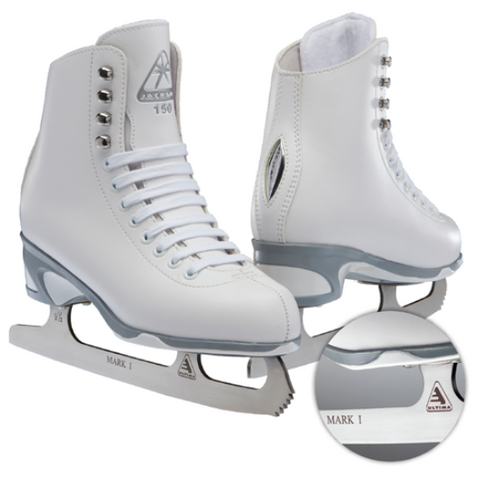 Jackson Ultima Finesse Series figure skates in white