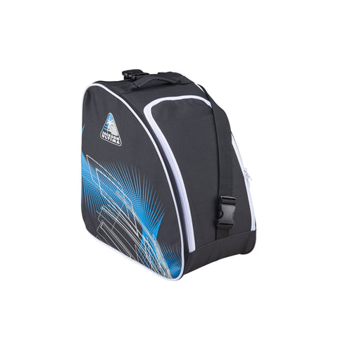 Jackson Ultima oversized skate bag in blue and black with white trim