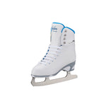 Jackson Ultima Finesse women's girls white figure skate with blue trim